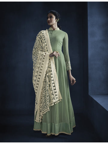 Designer and Beautiful Green Color Anarkali Suits