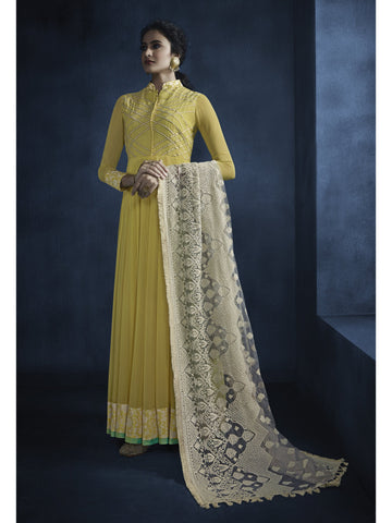 Designer and Beautiful Yellow Color Anarkali Suits