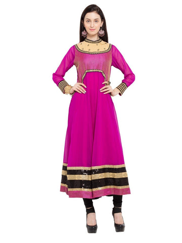 Designer Purple Georgette Plain Anarkali Kurta