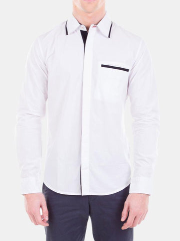 Plain Poplin White Color Formal Shirt