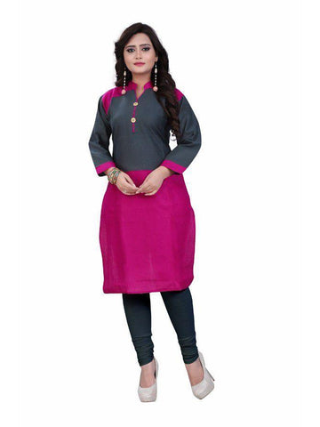 Beautiful Printed Pink Color Cotton Kurtis