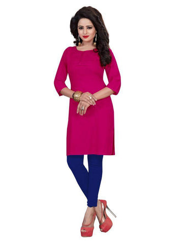 Beautiful Printed Pink Color Pure cotton Kurtis