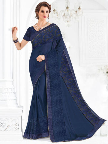 Indian Women violet color marble chiffon and net Saree