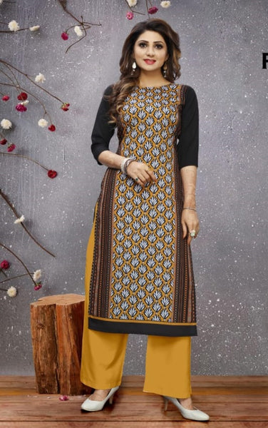 Beautiful and Designer Straight Cut Kurti