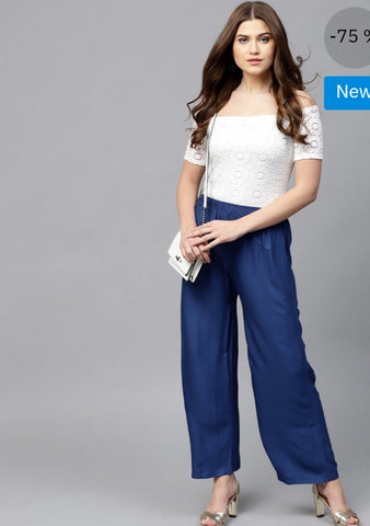 Beautiful Cobalt Blue Palazzo Pant