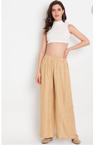 Beautiful Golden Colour Palazzo Pant