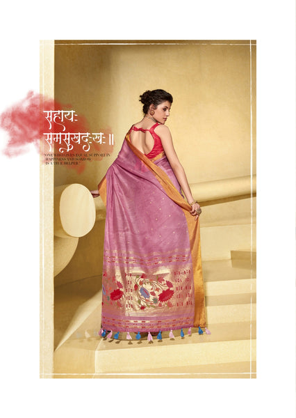 Linen Party Wear Saree with Foil Printed Pallu
