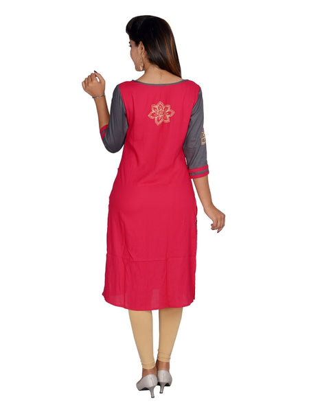 Beautiful Stylish Rayon Multi Color Kurti