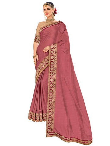 Indian Women maroon color two-tone moss chiffon Saree