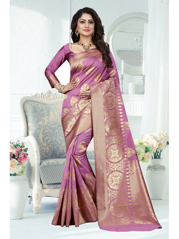 Levandor Color Banarasi Art Silk Saree