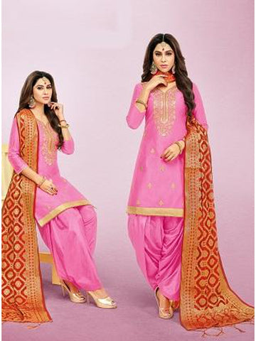 Punjabi Designer Pink Color Patiala Suit