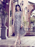 Designer Grey Color Orgenza & Crepe Silk Printed Kurti