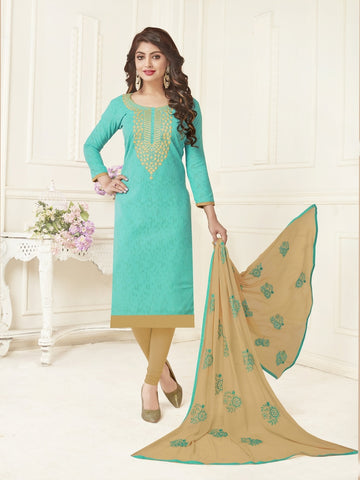 Beautiful Sky Blue Color Straight Cut Suit