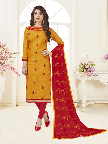 Beautiful Mustard Yellow Color Straight Cut Suit