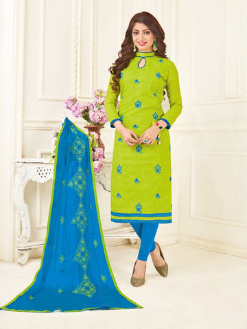 Beautiful Green Color Straight Cut Suit