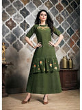 Designer Dark Green Color Long Anarkali Kurti and Gown