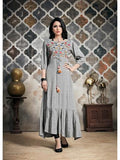 Designer Grey Color Long Anarkali Kurti and Gown