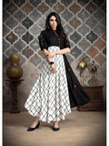 Designer Black & White Color Long Anarkali Kurti and Gown