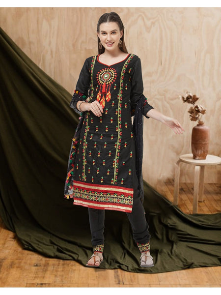 Designer and Beautiful Black Color Straight Cut Suit