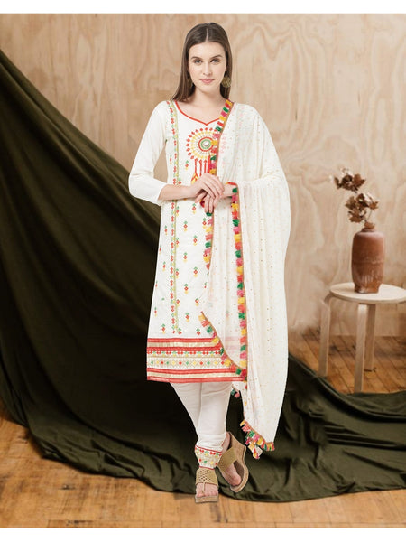 Designer and Beautiful White Color Straight Cut Suit