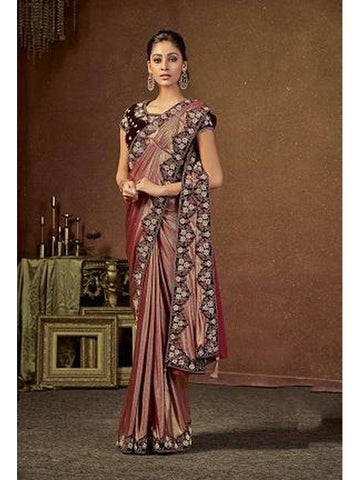 Designer and Gorgeous Maroon color Saree