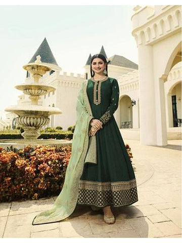 Designer Party Wear Dark Green Color Anarkali Suit