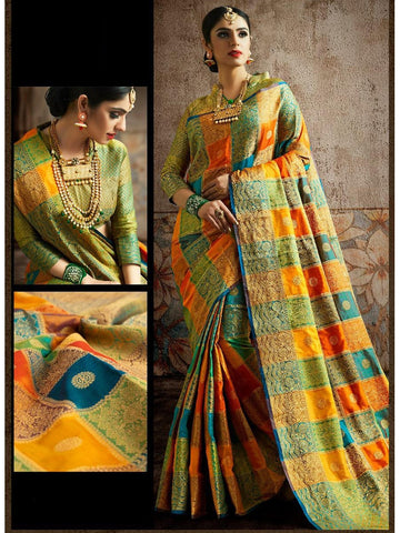 Designer and Gorgeous Multi color Saree