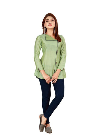 Designer and Beautiful Pastel Green Color Top