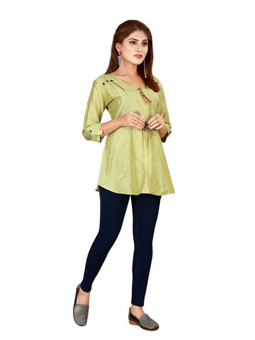 Designer and Beautiful Pear Green Color Top