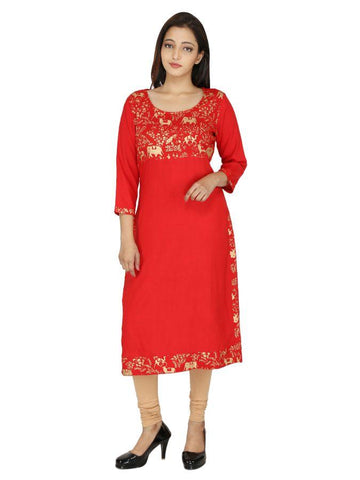 (XL Size) New and Trendy Designed with absolute perfection kurti
