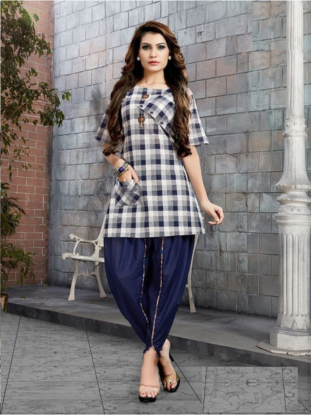 Beautiful Multi Color Digital Printed Kurti with Dhoti