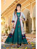 Beautiful Multi Color Digital Printed Heavy Crepe Anarkali Kurti