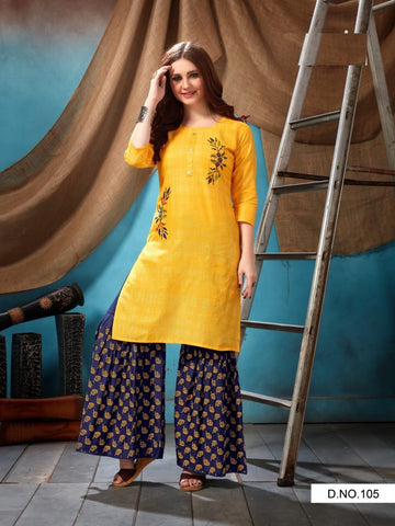 Beautiful and Designer Kurti with Palazzo