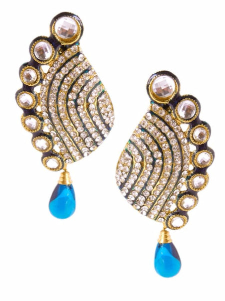 Golden Earrings - PurpleTulsi.com
