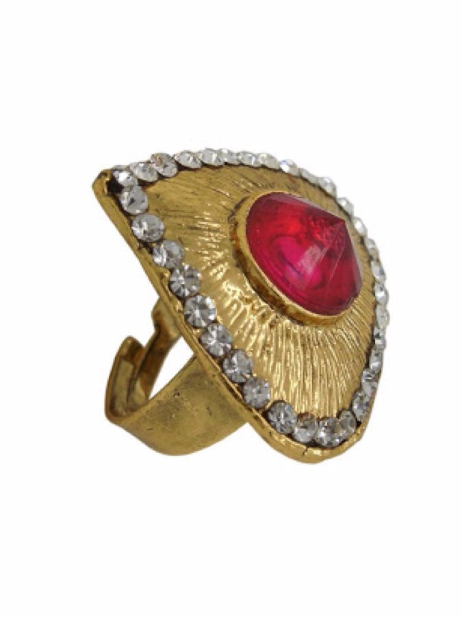 Golden Finger Ring - PurpleTulsi.com