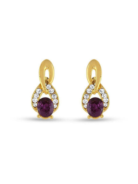 Fashion Charming Designer Party Wear Purple Color Top Earrings