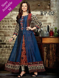 Beautiful Multi Color Digital Printed Chanderi Cotton Anarkali Kurti