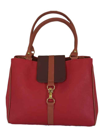 Red quality leather stylish bag - PurpleTulsi.com