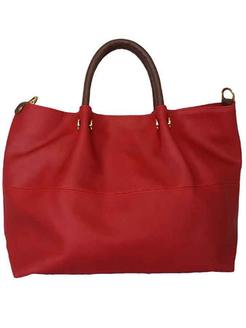 Red premium pure leather bag - PurpleTulsi.com