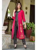 Designer and Beautiful Navy Blue Color Straight Cut Kurti