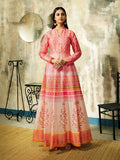 Designer and Beautiful Pink, Orange & Cream Color Gown