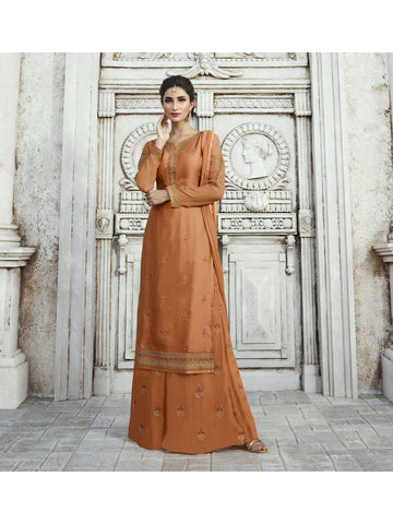 Designer and Beautiful Bronze Color Straight Cut Suit