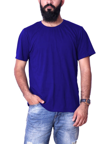 ShopDoze RoyalBlue Mens Half Sleeve Plain T-Shirt