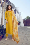 Yellow Color Jam Silk Straight Cut Suit