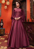 Magenta Heavy Soft Silk Gown