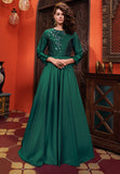 Green Heavy Soft Silk Gown
