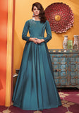 Blue Heavy Soft Silk Gown