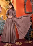 Light Brown Heavy Soft Silk Gown