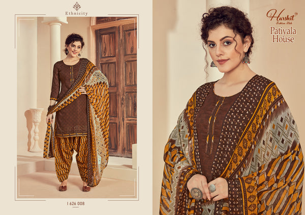 Designer and Beautiful Chocolate Color Patiala Suit