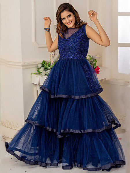 Designer and Beautiful Royal Blue Gown